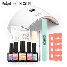 Rosalind New Arrival 10ML UV Gel Kit Soak-off Gel Polish Gel Nail Kit Nail Art Tools Sets Kits SUN9C Manicure Set