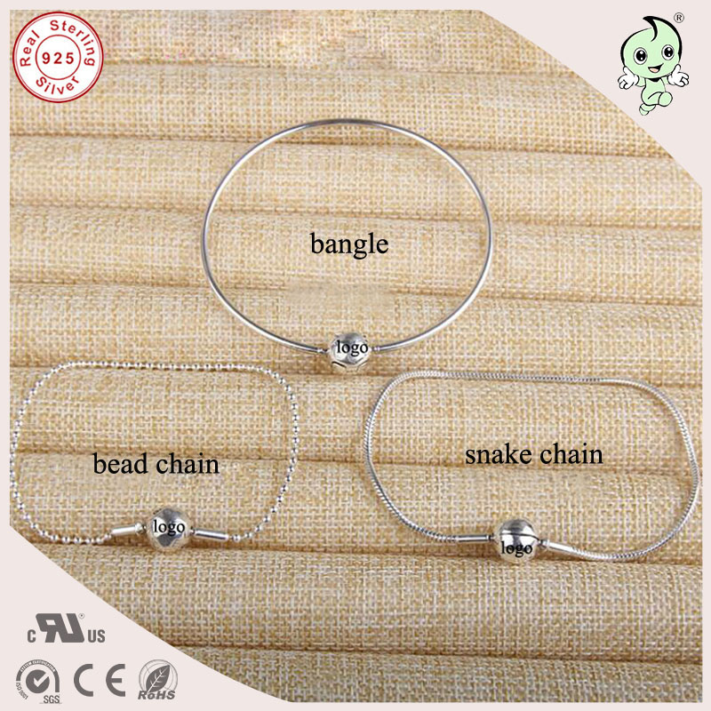 New Collection Top Quality Popular And Fashion 925 Geniune Silver Thin Bracelet Fitting Essence Charm Bracelet