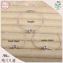 Новая коллекция Одежда высшего качества Популярные и модные 925 Geniune тонкий серебряный браслет установки сущность браслет