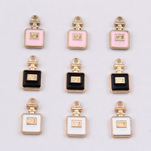 100pcs 16*8mm Perfume bottle features oil drop alloy pendants DIY jewelry accessories wholesale(China)