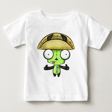 Invader Zim Animated Series Screaming kids shirt boy t-shirt children tshirt summer Short sleeve 3T---8T MJ