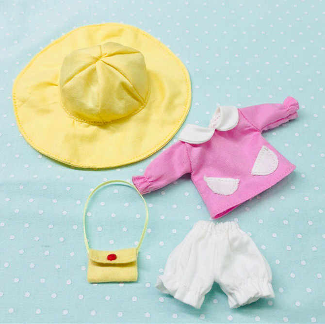 4 PICS Obitsu11 OB11 1/12 Boneka Mantel Boneka Lucu Pakaian TK Seragam untuk OB11 Boneka Aksesoris