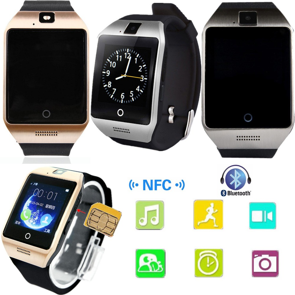 Οθόνη αφής Bluetooth Smart Watch Υποστήριξη τηλεφώνου NFC κάρτα SIM για το Android Samsung S8 S7 S6 LG Huawei Alcatel Motorola HTC iPhone