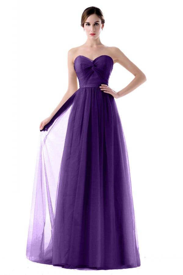 Magnífico Vestidos De Dama De Color Púrpura Barato Patrón - Ideas de ...