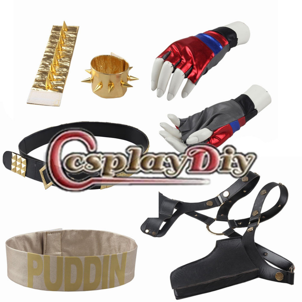 Cosplaydiy Commando Suicide Harley Quinn Cosplay Accessoires Halloween  Costumes Accessoires Pour Femmes Custom Made(China