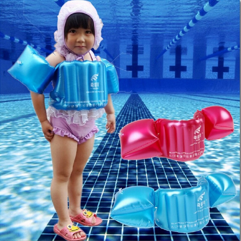 Child Inflatable Swim Vest Arm Float Ring Baby Swimming Circle Ring Infant Float Neck Swim Trainer