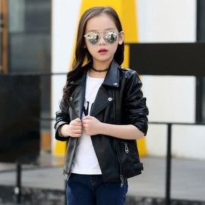 Image 5 - 브랜드 패션 아동 코트 방수 아기 소녀 소년 가죽 자켓 3 14 세 어린이 복장