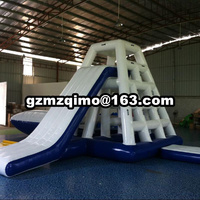 Giant Water Slide For Adult Custom color floating inflatable water slide for lack inflatable slide