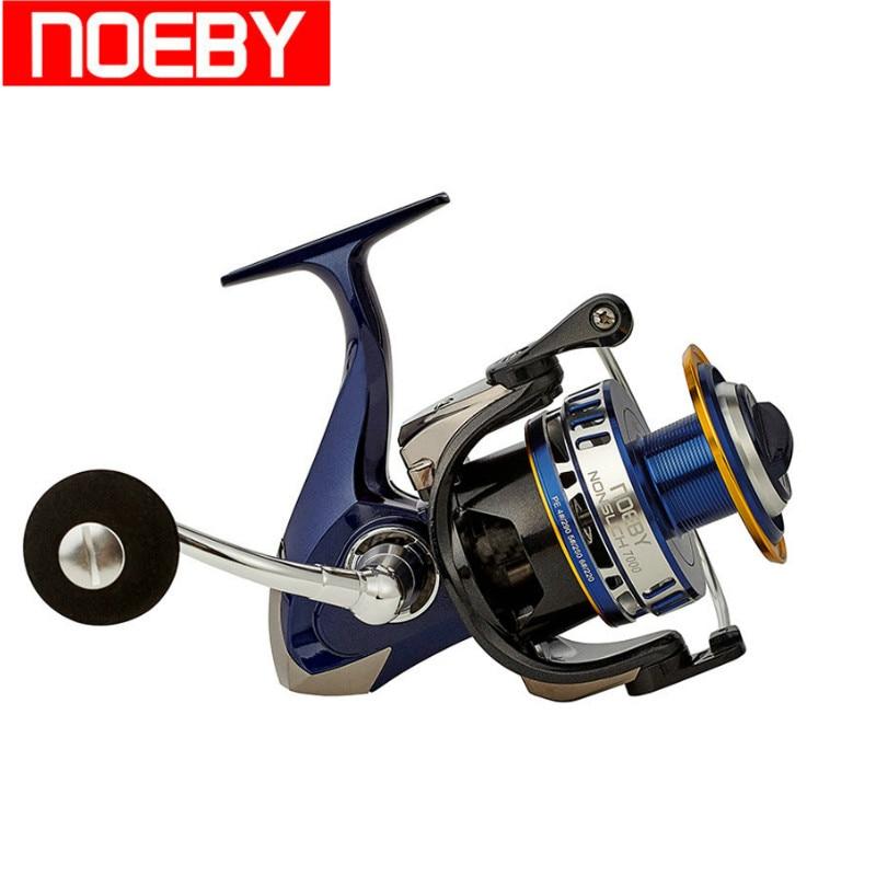 NOEBY Full Metal Spinning Fishing Reel 10+1BB 4.9:1 Drag Power 20kg Carretilha De Pesca Moulinet Peche Vissen Fishing Coil