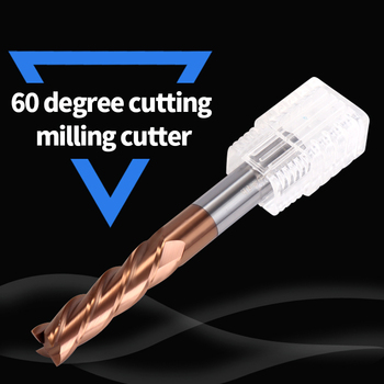 Cnc Fraise carbure HRC60 4 Flute Cutting Alloy Carbide Tungsten Steel Milling Cutter End Mill For Freze ucu Metal Milling Tools slons s500 r2 4 50l hrc60 ball nose tungsten carbide end mill for cnc machine