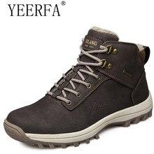 Мужская обувь зимние теплые меховые зимние ботинки Мужская обувь Российской ПУ ковбой круглый носок Модные мужские зимние ботильоны на резиновой подошве