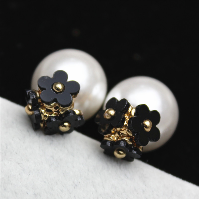 30 Spilled Flower Pots To Give Your Flowers A Liquid Touch: New Fashion Brand Jewelry Double Sides Gift Earrings For