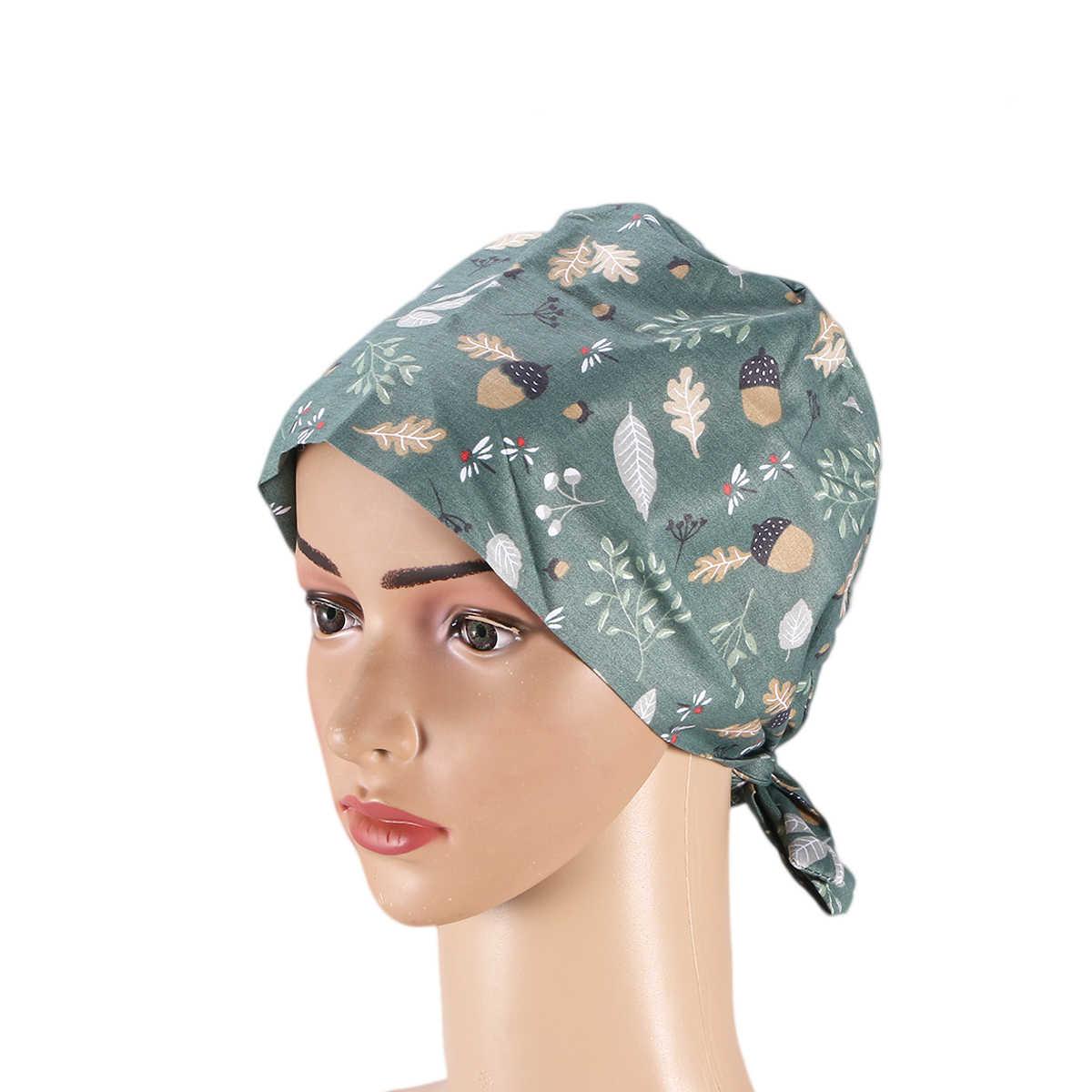 1pc หมวกผ่าตัดผ้าฝ้าย Dragonfly พิมพ์ Unisex ศัลยกรรมหมวกปรับหมวกหมวกพยาบาลสำหรับพยาบาลแพทย์เภสัชกร