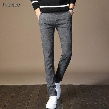 d4b9077ac03952 Pantalones de traje de otoño para hombre Slim Fit a la moda pantalones de  vestir a