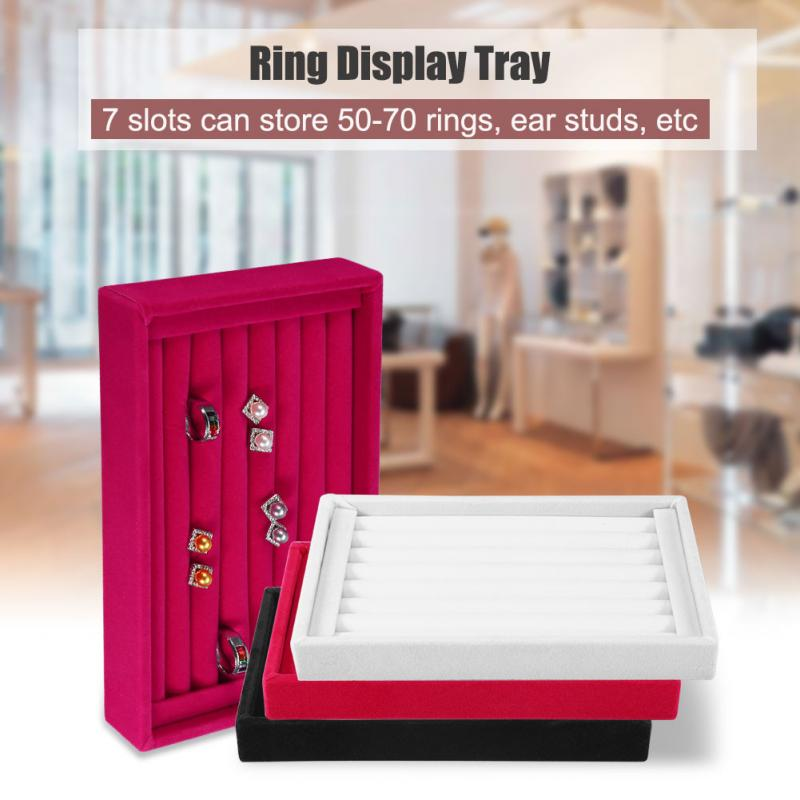ZJCHAO Portable Velvet Jewelry Ring Earring Insert Display