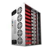 Crypto монет открытым горного воздуха Рамка Rig Графика корпус ATX Fit 12 GPU ethereum Eth и т. д. zec xmr для материнской платы ITX MicroATX ATX