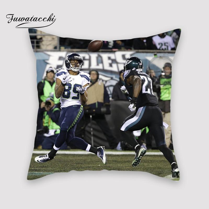 Fuwatacchi NFL Touchdown Cover Plush Soft Cute Throw Pillow Cover Decorative Sofa Quarterback Sack Pillow Case Pillowcase