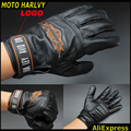 2016 hot sale Harley motorcyclists leather gloves long section of men's leather motorcycle gloves flame gloves