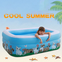 Child Infatable Swimming Pool Above Ground Inflatable Family Swimming Pool Baby Inflatable Pool Child Toy Pools 150*110*50cm