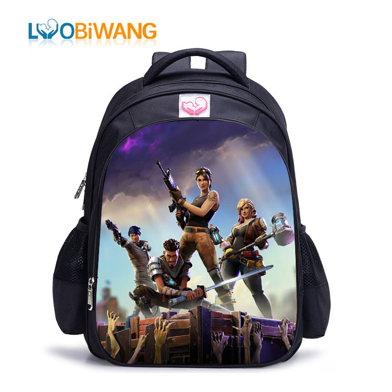 LUOBIWANG Game Battle Royale Children Schoolbag Famous Cartoon Character Backpack for Teenager Boys and Girls Mochila Infantil(China)