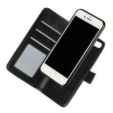 Для iPhone 7 6 Plus SE Съемная Магнитные Случаи Флип Бумажник Кожаный Чехол 2 в 1 Телефон Сумка Coque Для iPhone 7 Plus 6 S 5 5S Case