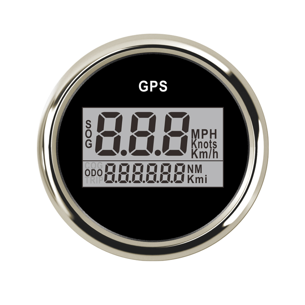 52mm Boat Digital Speed Gauge 0~999 Knots GPS Speedometer Waterproof LCD Display GPS Meter fit Car Truck Boat 9~32V 52mm digital depth gauge lcd display meter fit yacht car truck auto boat engine with 7 color led backlight and cable 12v 24v