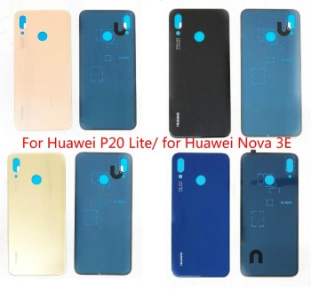 High Quality back cover for huawei P20lite /nova 3E Repair Spare glass Back Cover for Huawei p20lite/nova 3E image