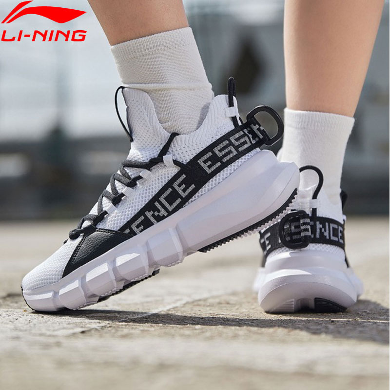 Li Ning Women ESSENCE LACE UP Basketball Culture Shoes Mono Yarn Breathable LiNing Sport Shoes Sneakers