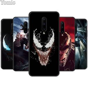 Marvel Venom Super Hero Black Case for Oneplus 7 7 Pro 5G 6 6T 5T Soft Cover Shell for Oneplus8Pro 7Pro Silicone Phone Case(China)