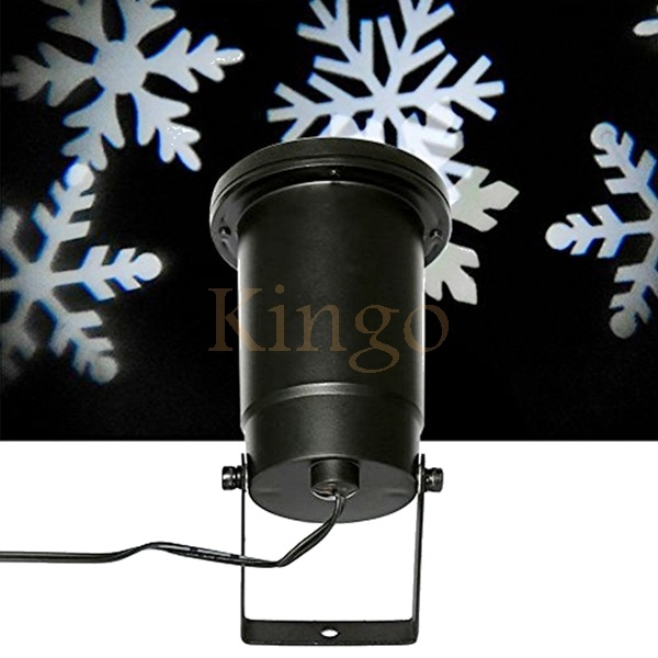 Hot sale Moving Snow Laser Projector Lamps Snowflake LED Stage Light For Christmas Party Landscape Light Garden Lamp Outdoor недорого