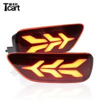 Tcart 1sets Car LED Rear Bumper Reflector Accessories Fog Lamp Brake Light Turn Signal light For Nissan Patrol 2018 2019