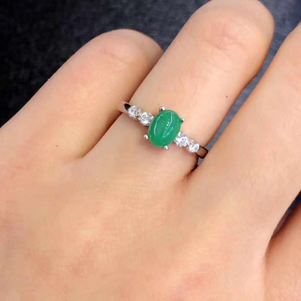 2017 Anillos Jewelry Qi Xuan_Fashion Jewelry_Colombia Green Stone Fashion Rings_Green Stone Woman Rings_Factory Directly Sales 2017 anillos jewelry qi xuan