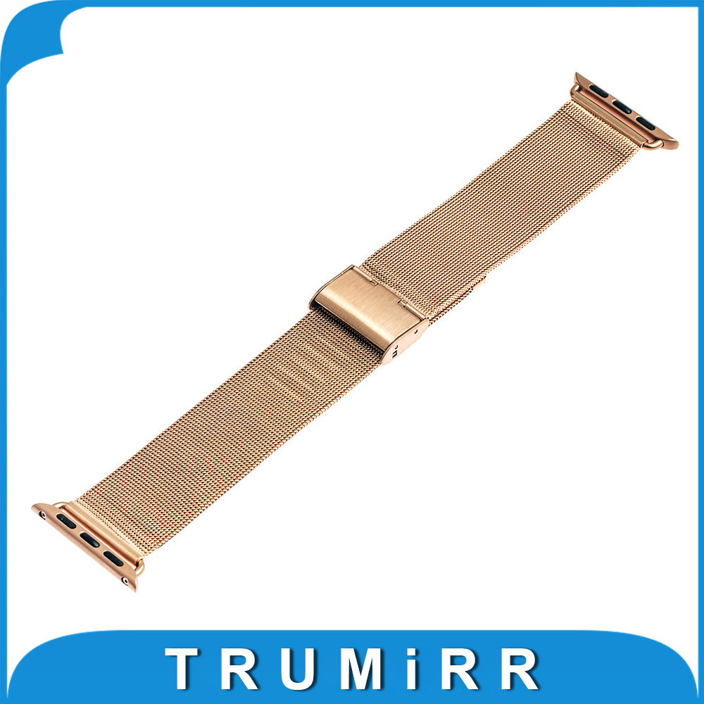 Milanese Stainless Steel Watchband for 38mm 42mm iWatch Apple Watch Sport Edition Wrist Band Link Strap