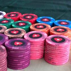 EPT керамические покерные фишки Профессиональный Pokerstars Европейский Poker Tour набор покерных фишек 39*3 мм 10g