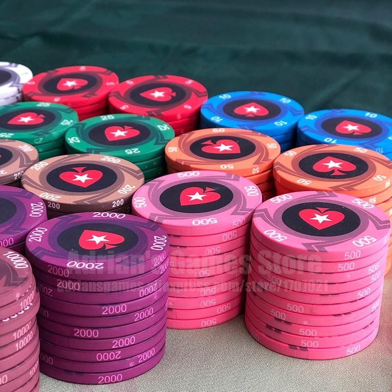 EPT Ceramic Poker Chips Professional Pokerstars European Poker Tour Poker Chips Set 39*3mm 10g