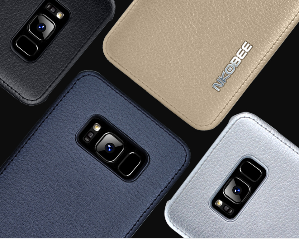 For Samsung Galaxy S8 Case Leather Luxury Cover Case For Samsung Galaxy S8 S8 Plus Case S8 S8 Plus Original Hard Back NKOBEE (3)