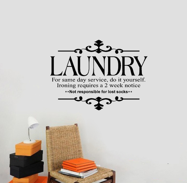 New laundry for same day service do it yourself wall stickers lettering vinyl decal decoration art