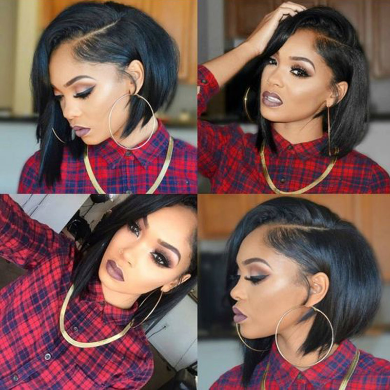 Ishow Short Bob Wig Lace Front Human Hair Wigs 13x4 Straight Bob Lace Front Wigs Brazilian Wig Remy Full Short Human Hair Wigs