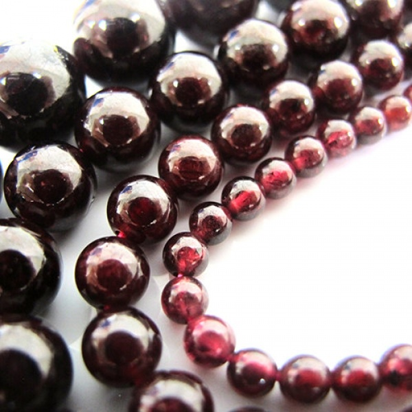 2017 Top Fashion New Arrival Metal Bulk Buy Garnet Beads 12mm 8mm 6mm 4mm Size Mixed 64 Inch 4 Strands Deep Burgundy Color Wine bodo 1kg page 1