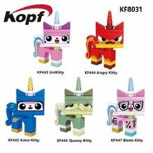 KF8031 Одиночные продажи Строительство блоков Серия фильмов Angry Kitty Unikitty Biznis Astro Queasy Kitty Кирпич Подарок для детей Игрушки