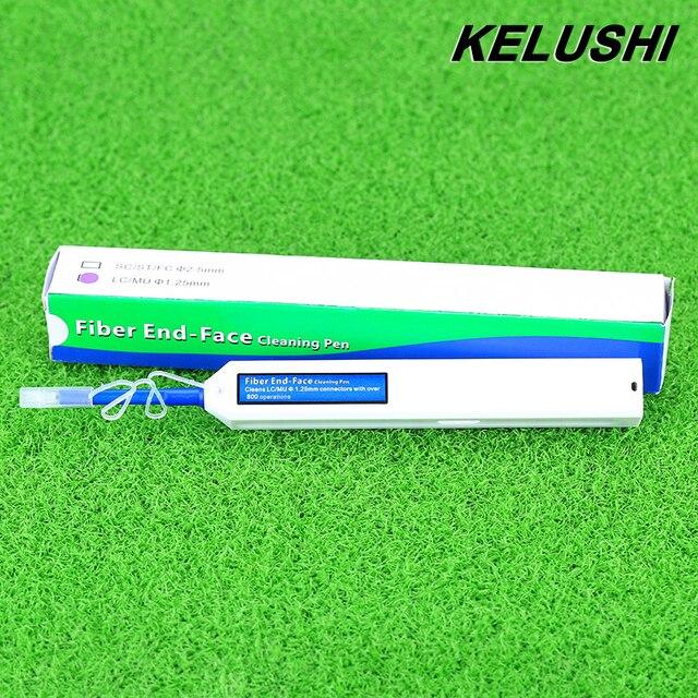 KELUSHI Новый Волоконно-оптический Очиститель Ручка Обновления LC/MU 1.25 мм Разъем Оптического Волокна Cleaner One-Click очистки инструменты