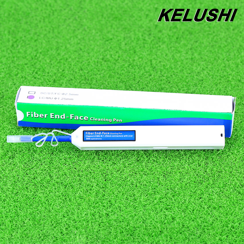 KELUSHI New Fiber Optic Cleaner Pen Upgrade LC MU 1 25mm Connector Optical Fibre Cleaner One