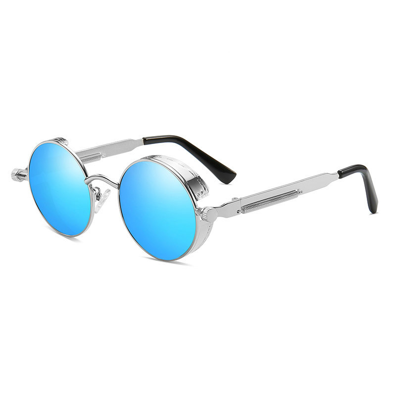 Ellen Buty Brand Design Trend Sunglasses Men Polarized Male Sun Glasses Oval Alloy Steampunk Color Driver