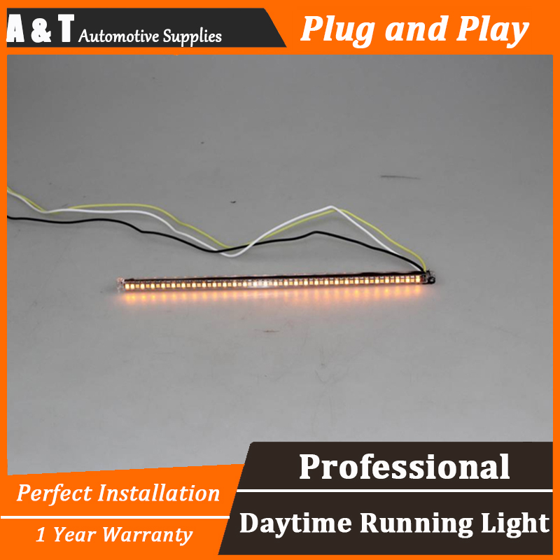 car styling For Buick regal LED DRL For regal led daytime running light High brightness guide LED DRL Without frame система освещения buick regal