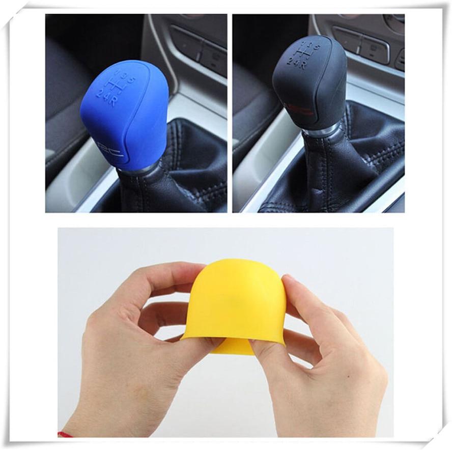 Protector auto de la manga del freno de mano Cubierta de cambio de engranaje de freno de mano de felpa Rosa Cubierta del freno de mano del coche