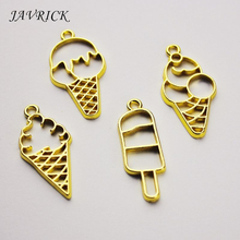 7 Pcs/set Crafts Making Frame Epoxy Border UV Metal Hollow DIY Jewelry Accessories Material Ice Cream Cone Shape
