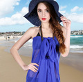 Free Shipping HOT New Sexy plain Chiffon Summer Swimwear Dress Beach Cover Up Pareo Sarongs Bikini Scarf free shipping