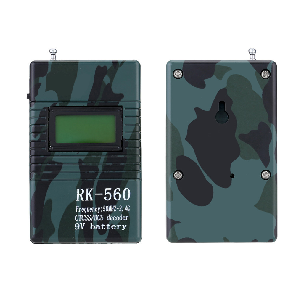 GYTB RK560 50MHz-2.4GHz Portable Handheld Frequency Counter DCS CTCSS Radio Testing Frequency Meter Counter