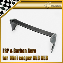 For Mini Cooper R56 Ver.2.11/2.12 Portion Carbon Fiber Type JCW Roof Spoiler Rear Wing With Fiberglass Leg FRP Tuning Body Kit cooper j wing and wing or le feu follet