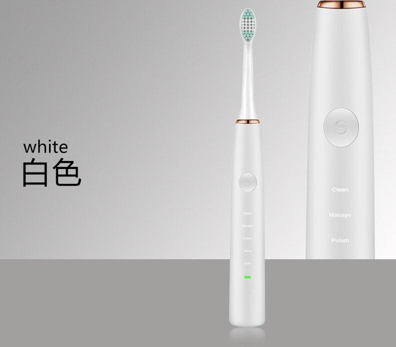 Brosse à dents électrique onde acoustique adulte Rechargeable brosse à dents vibrante ultrasonique nettoyeur de dents professionnel Machine à dents - 2